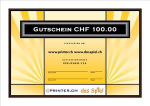 Geschenkgutschein CHF 100.00 inkl. MwSt Gutschein100