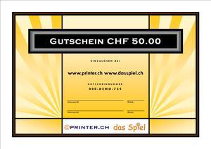 Geschenkgutschein CHF 50.00 inkl. MwSt Gutschein50