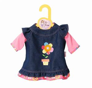 Zapf Creation Dolly Moda Jeanskleid (2) 38-46 cm 870006
