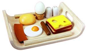 PlanToys Frühstücksmenü auf Tablett 3415A1
