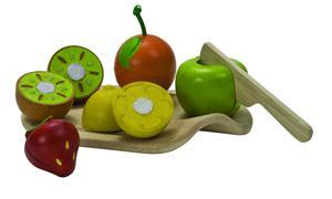 PlanToys Früchte-Set auf Schneidbrett 3600A3