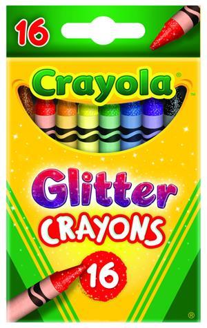 Crayola 16 Glitzerwachsmalstifte (8) 52-3716